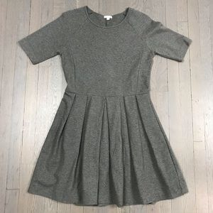 Gap Grey Short Sleeve Fit and Flare Casual Dress